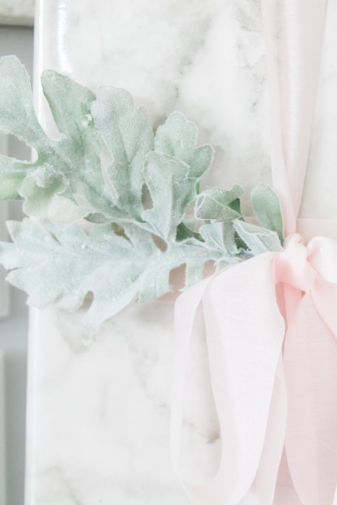 Light Pink and Green Accents Christmas Decor