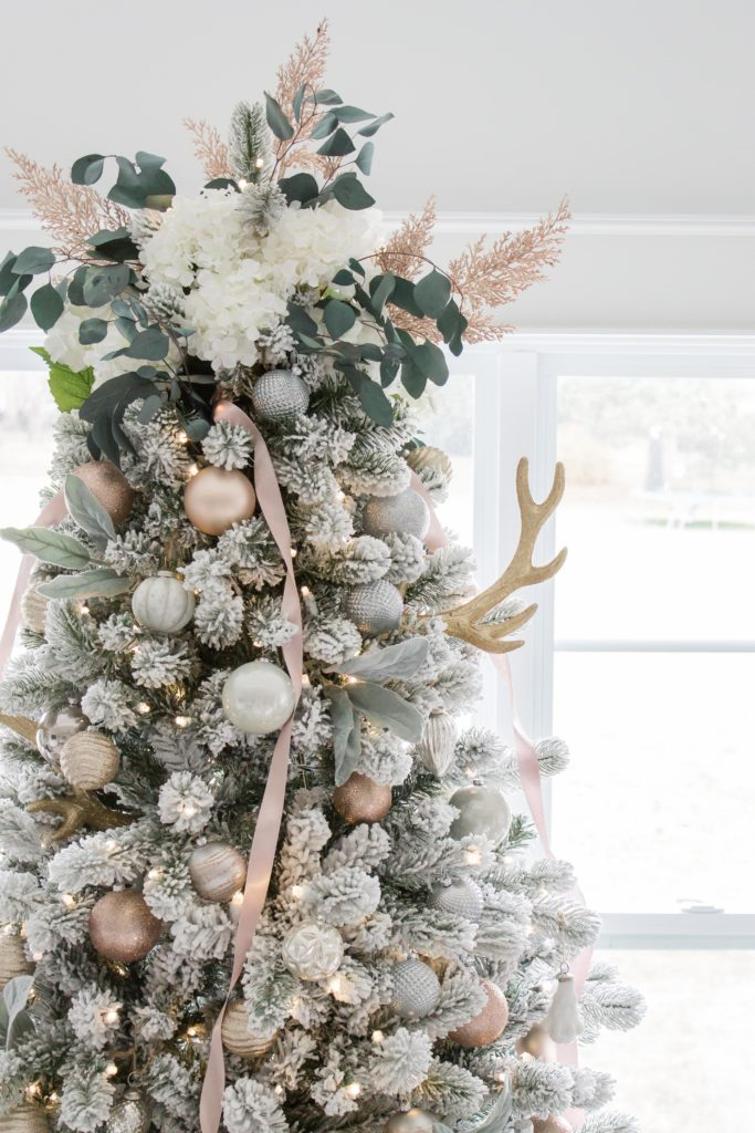Dreaming of a White Christmas Home Tour 2017 | Part IV Family Room Decor | Light and Bright Modern Farmhouse Style Christmas Home Decor| AE Home & Style