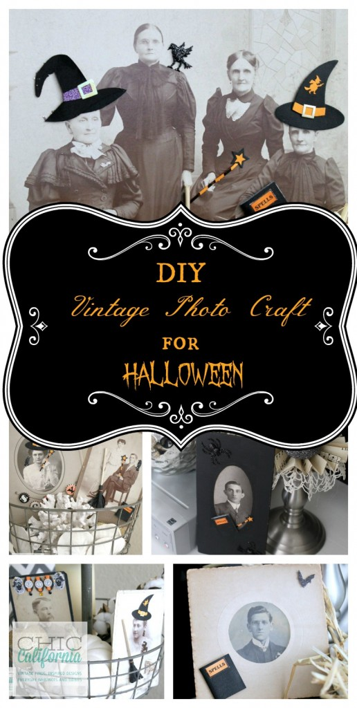 DIY Vintage Photo Craft for Halloween by Chic California
