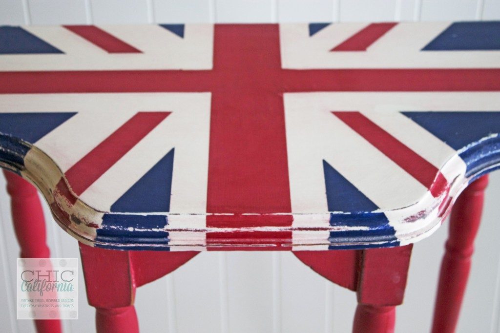 Downton Abbey Inspired Union Jack Table