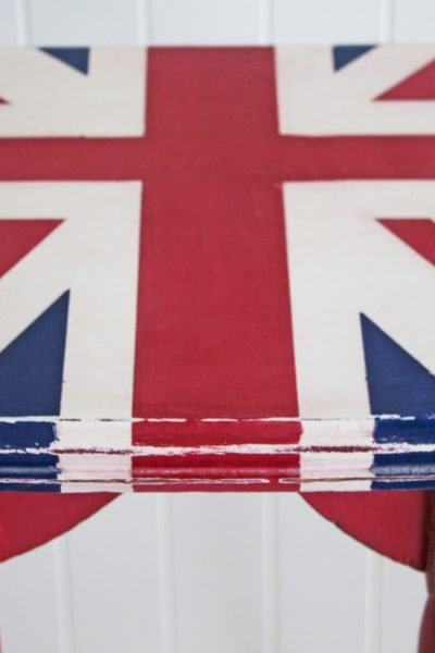 Before and After: Downton Abbey Inspired Union Jack table