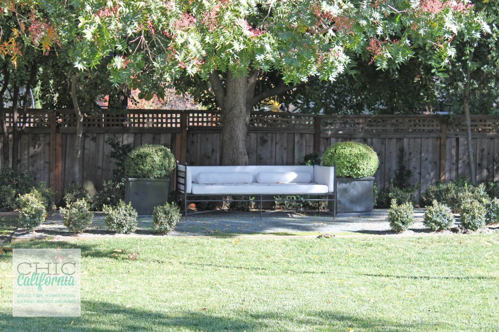 outdoor couch, outdoor lounge, white couch,