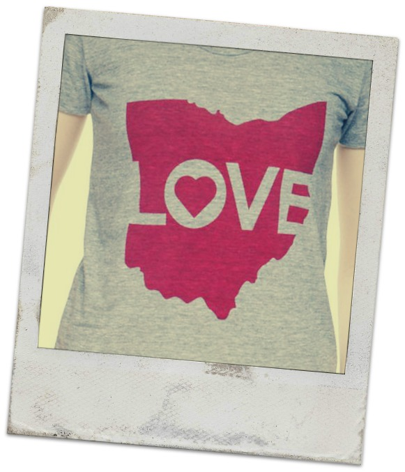 Ohio Love T shirt