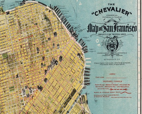 Chevalier Vintage San Francisco map
