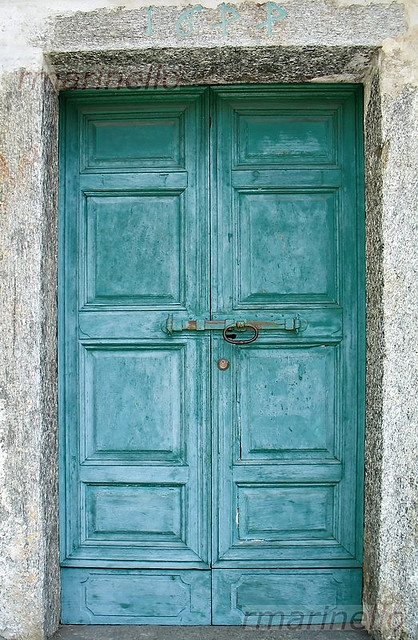 Turqouise italian doors - DIY Tips For Making New Doors Look Like Old French Doors