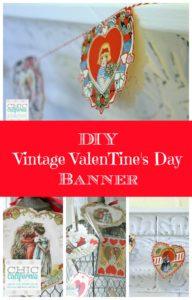 DIY Vintage Valentines Day Banner