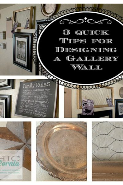 Inspired Design Monday: 3 Quick Tips for Designing a Gallery Wall