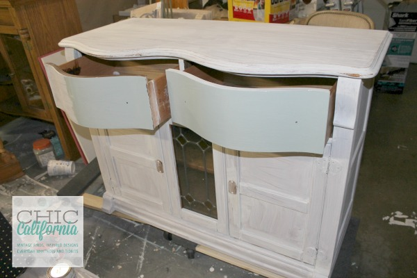 White Oak Dining Hutch
