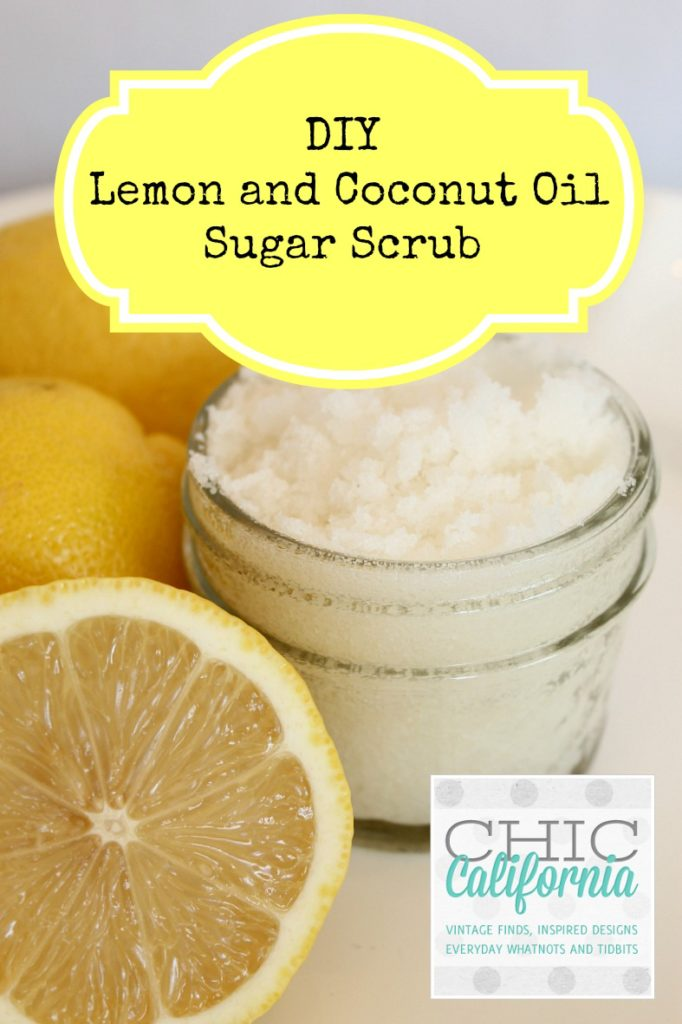 DIY Lemon and Coconut Oil Sugar Scrub