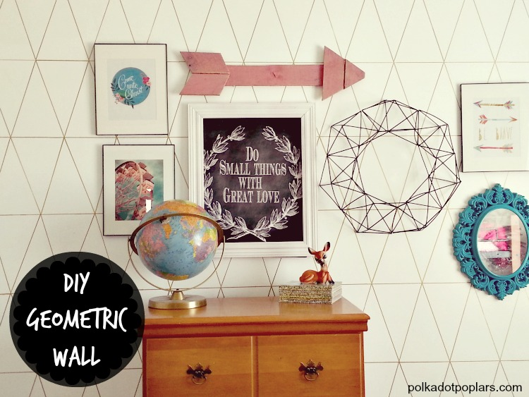 DIY Geometric Wall