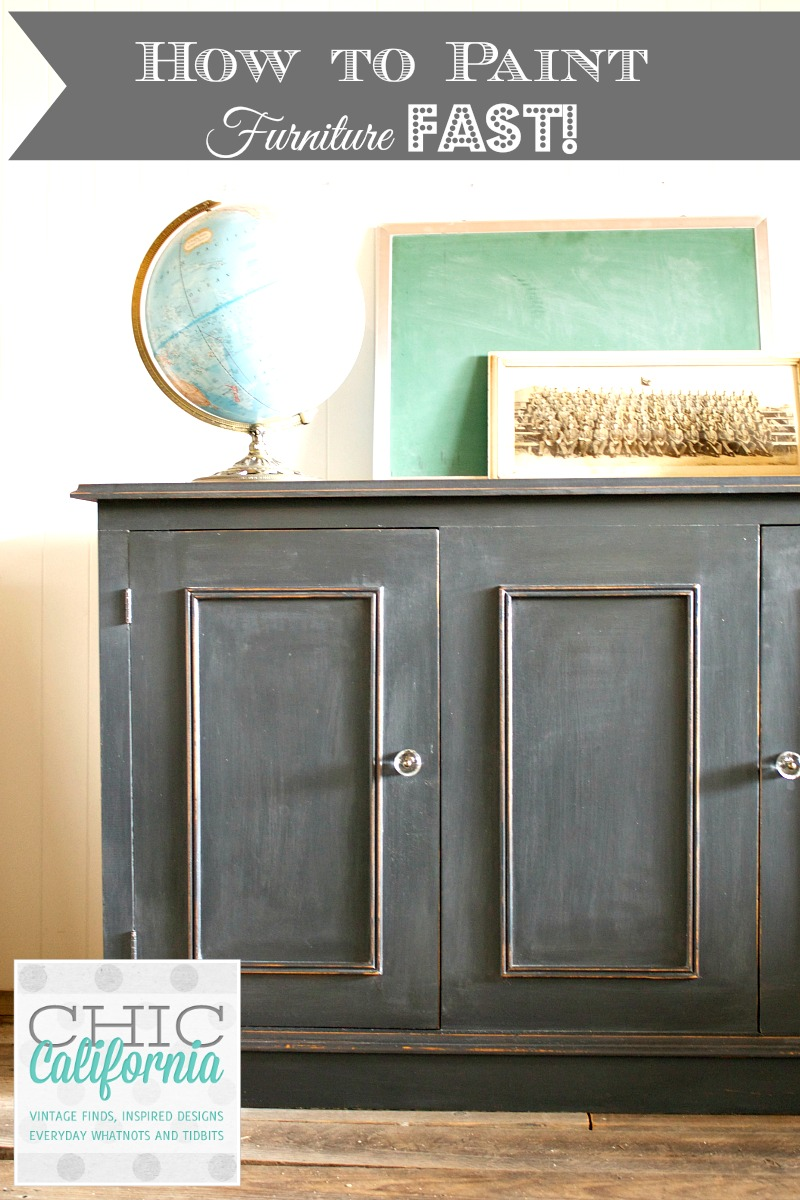 How to Paint Furniture Quickly Using Chalk Paint: Great tutorial from Chic California