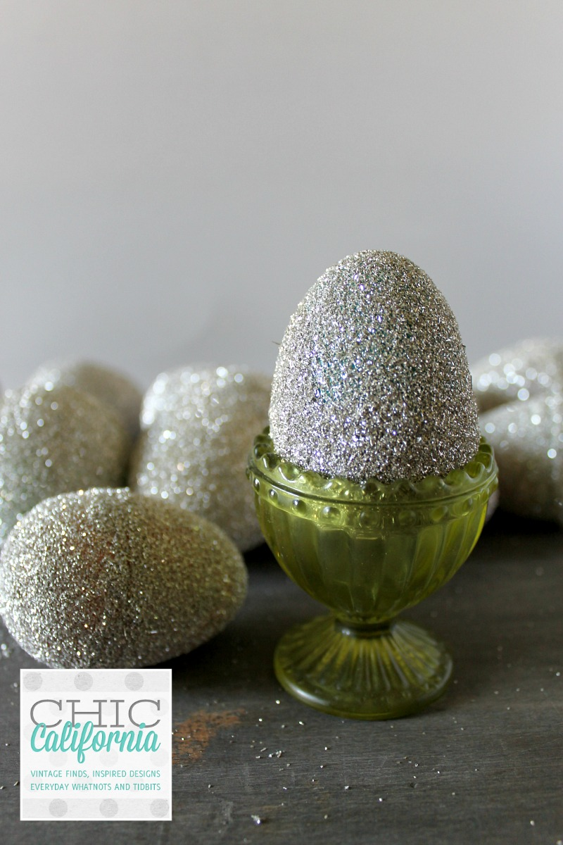glitter egg in cup