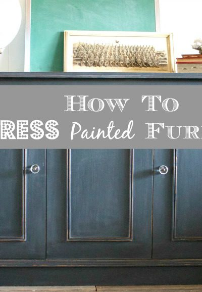 Transformation Tuesday: How to Distress Painted Furniture
