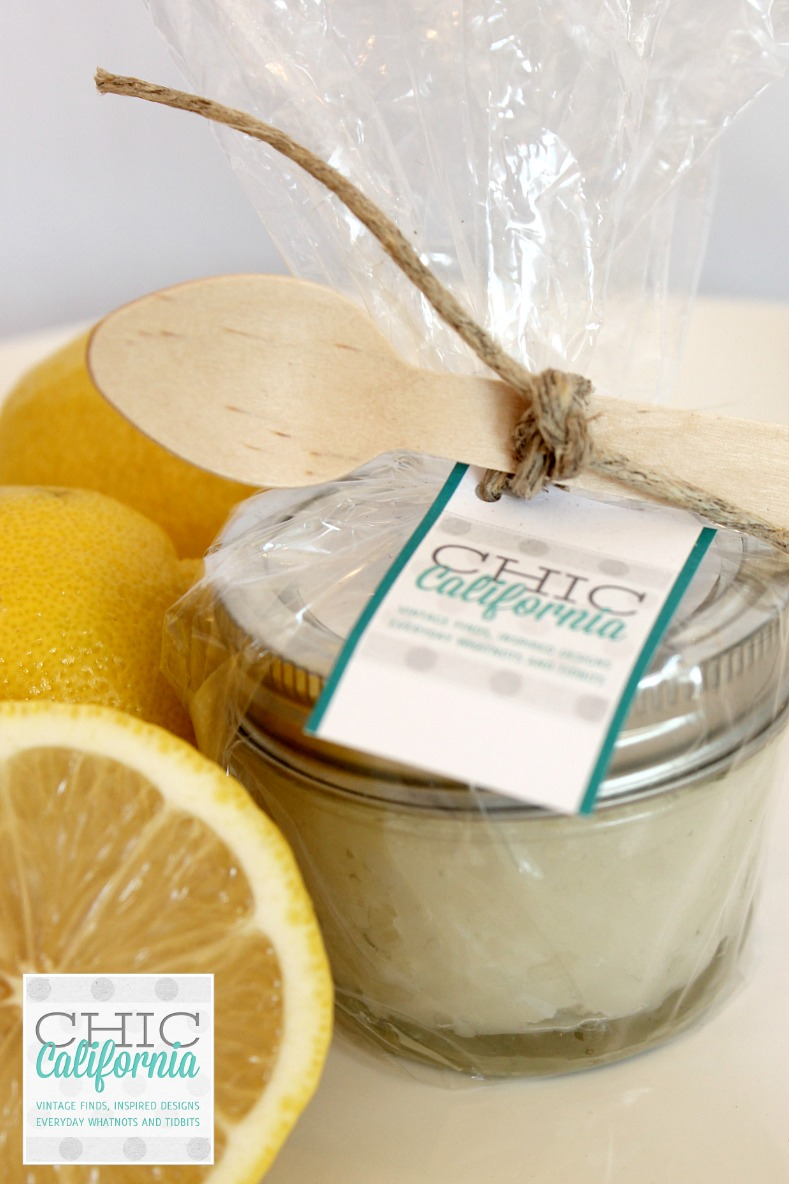 Lemon and Coconut Oil Sugar Scrub tutorial