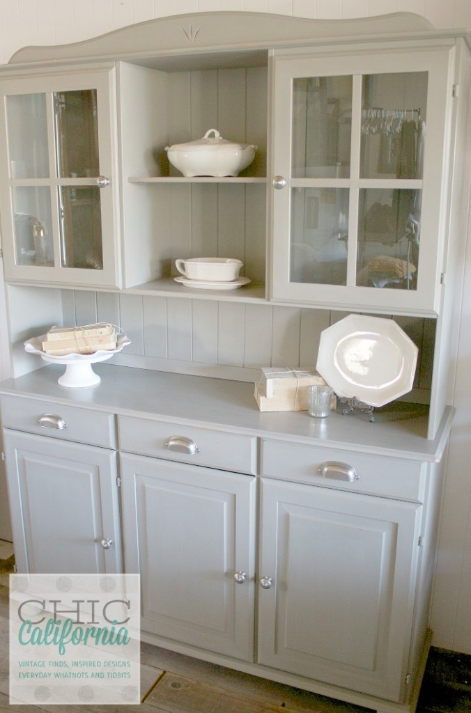 painted pine hutch