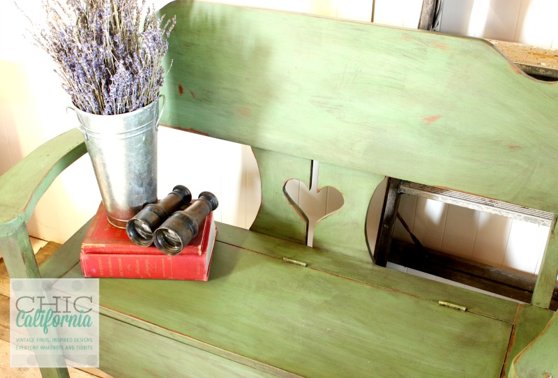 In a Pickle Milk Paint Bench by Chic California
