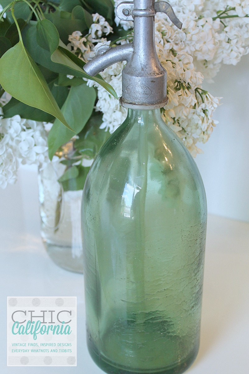 Green Vintage Seltzer Bottle