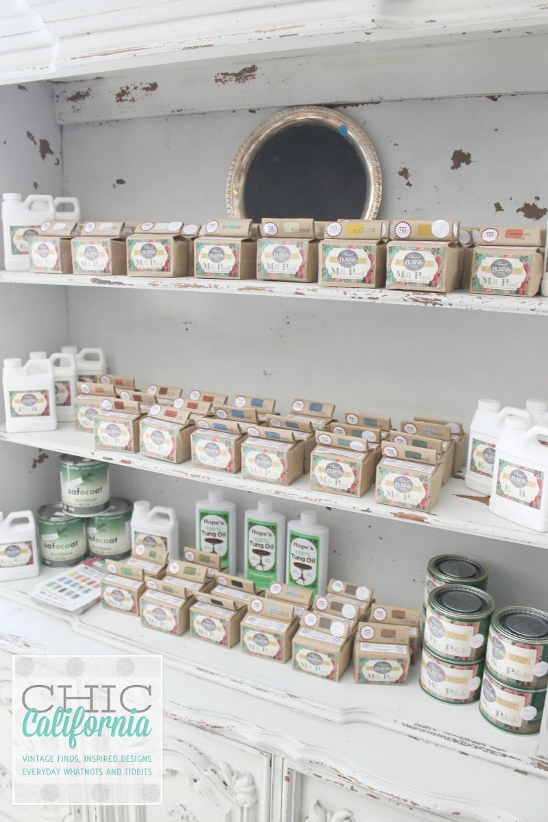 Sweet PIckins Milk Paint Display by Chic California