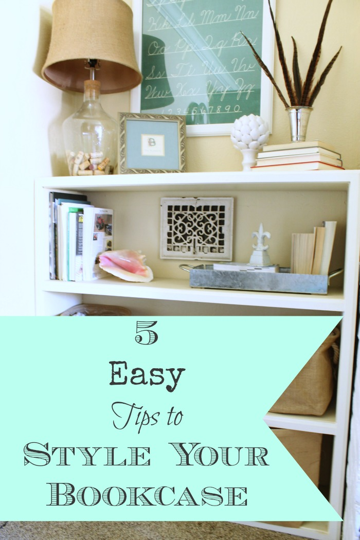 5 Easy Tips to Style Your Bookcase from Chic California