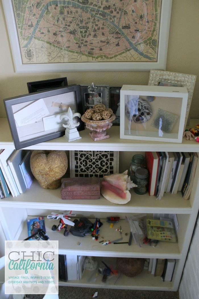 Bookshelf Before form Chic California