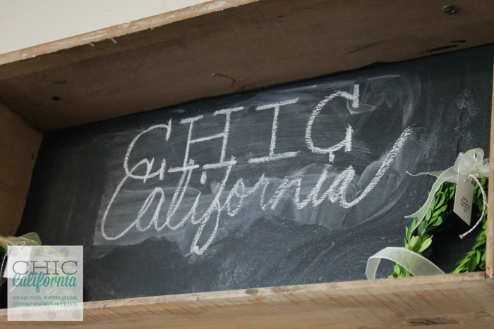 Chic California Chalkboard