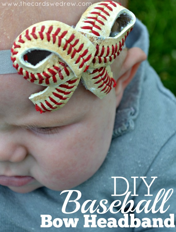 DIY-Baseball-Bow-Headband-from-The-Cards-We-Drew