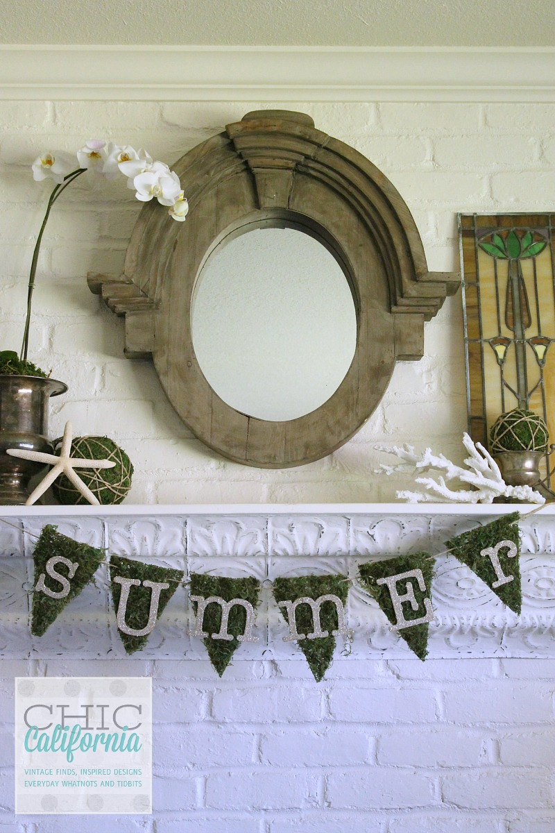 Summer Mantel from Chic California
