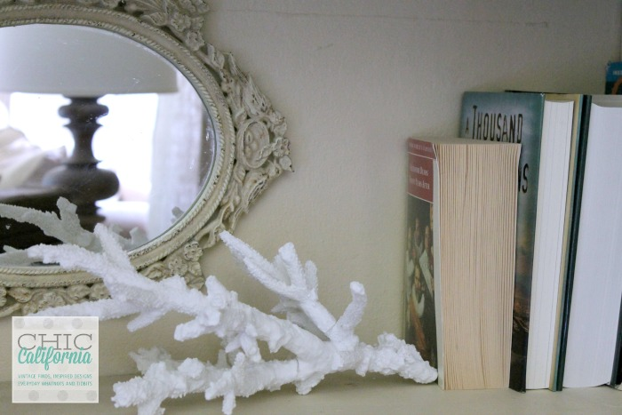 Mirror on Bookself by Chic California