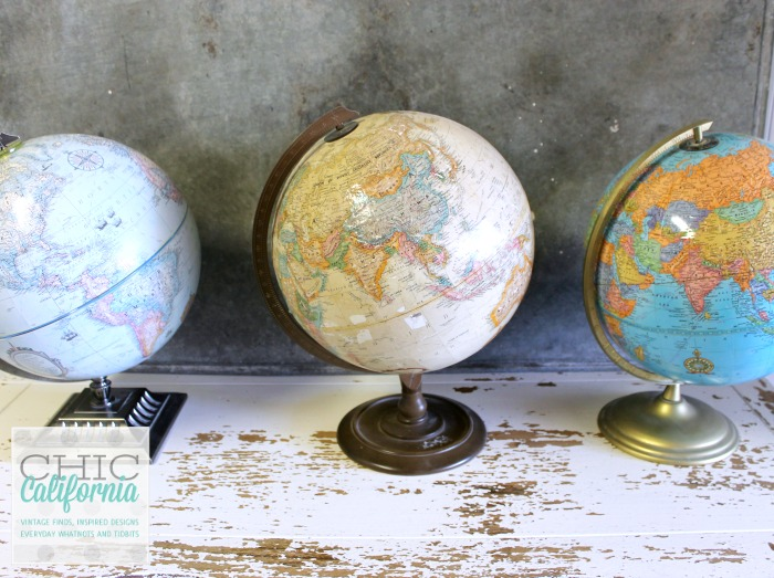Collecting Vintage Globes by Chic California