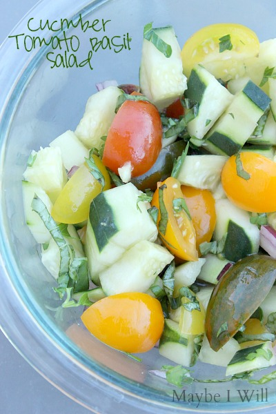 Cucumber Tomato Basil Salad