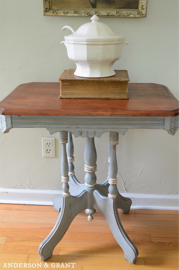 Distressed and Painted Table from Anderson + Grant