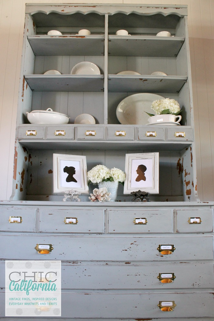 Gray Hutch Makeover