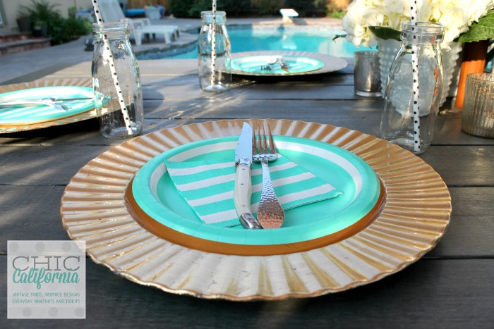 Paper Plate Table Setting from Chic California