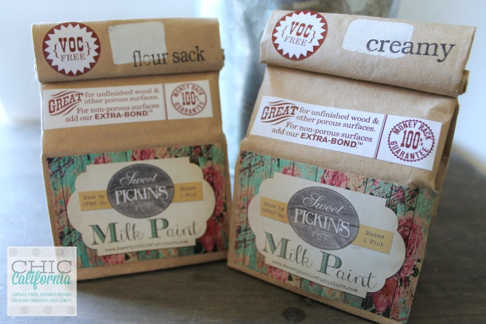 flour sack and creamy