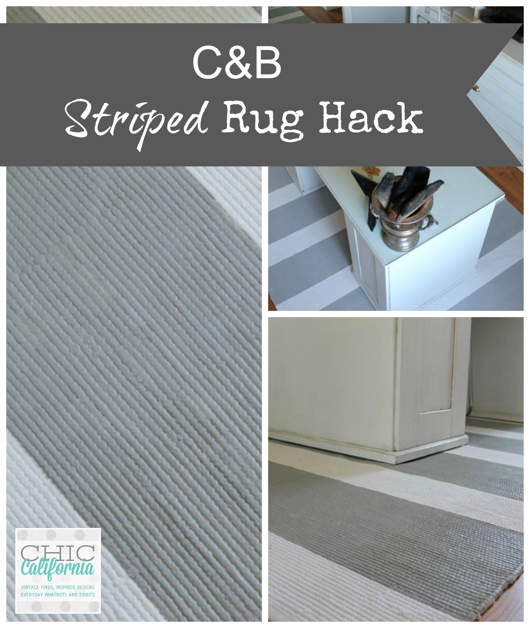 C&B Striped Rug Hack