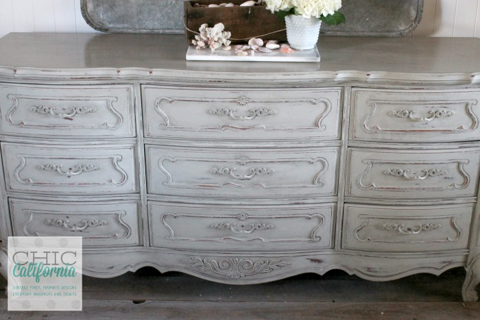 Custom Mix Dresser: Annie Sloan French Linen, Coco, Antique White