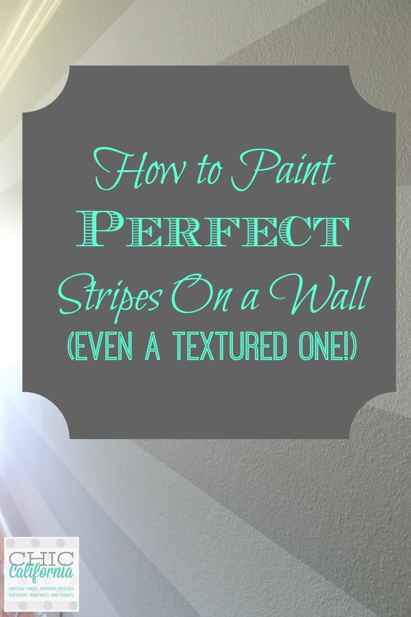 How to Paint Perfect Stripes on A Wall