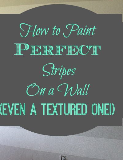 How to Paint Perfect Stripes on a Wall (Even a Textured One!)