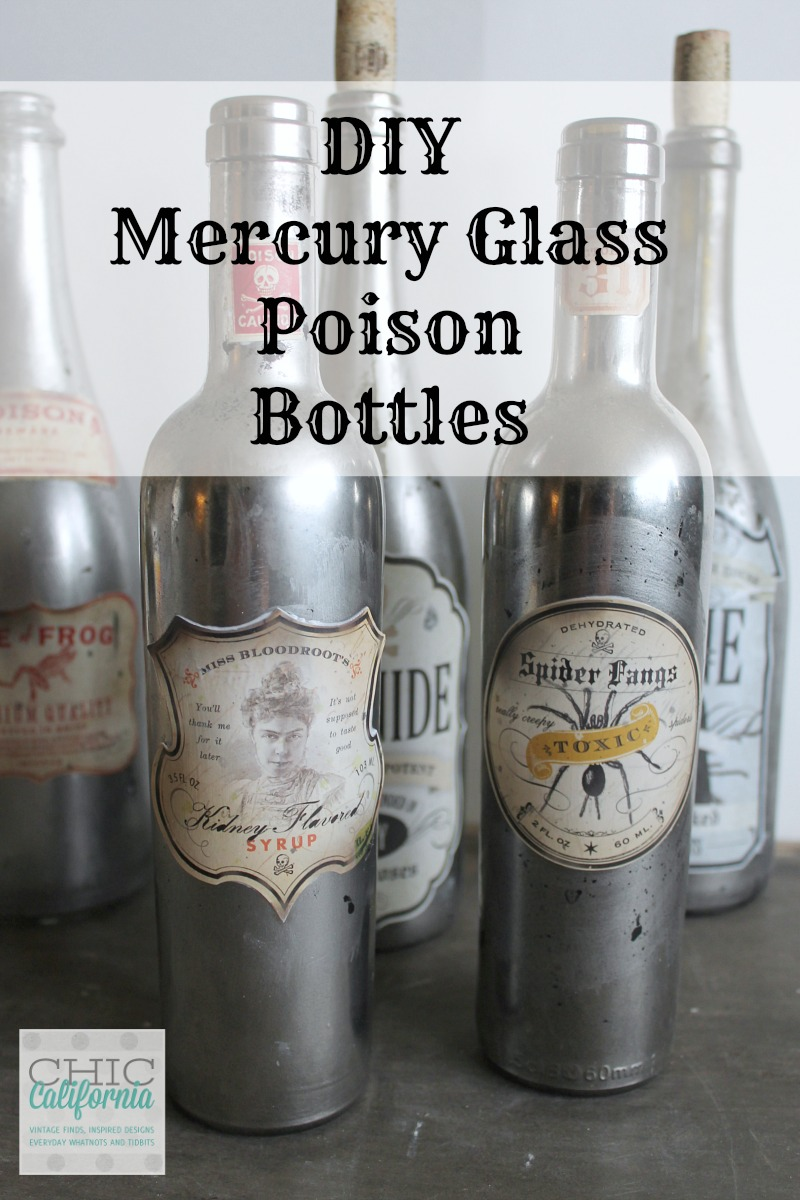 DIY Mercury Glass Poison Botles