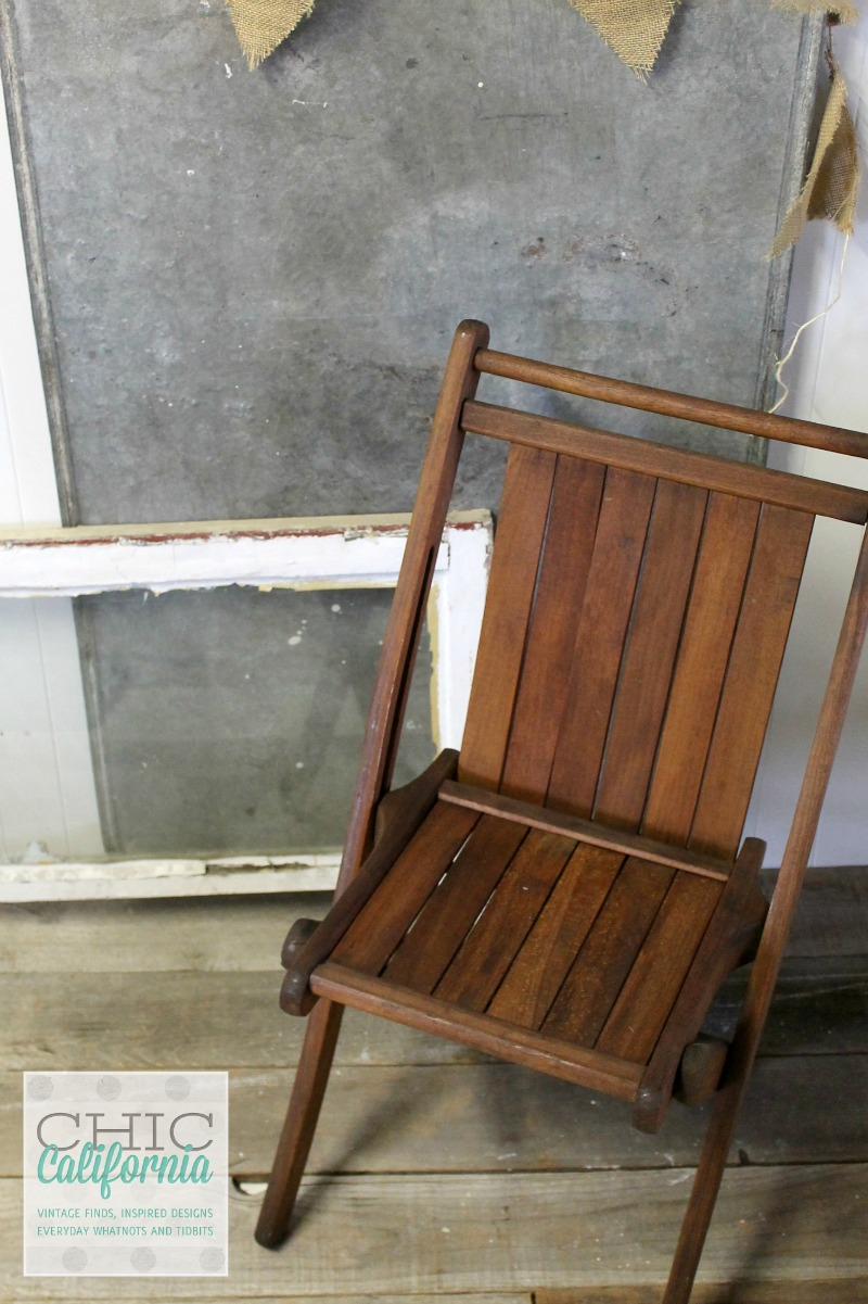 Folding Chair with Tung Oil Finish