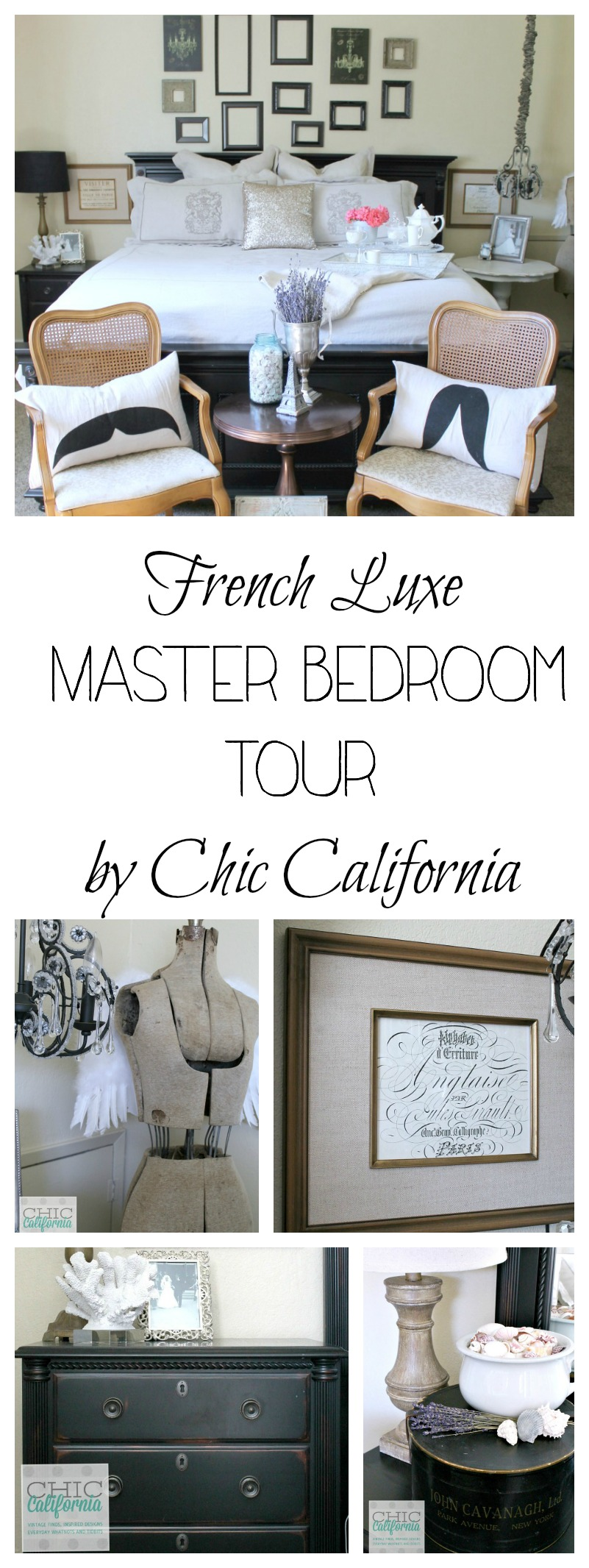 French Luxe Master Bedroom Tour by Chic California