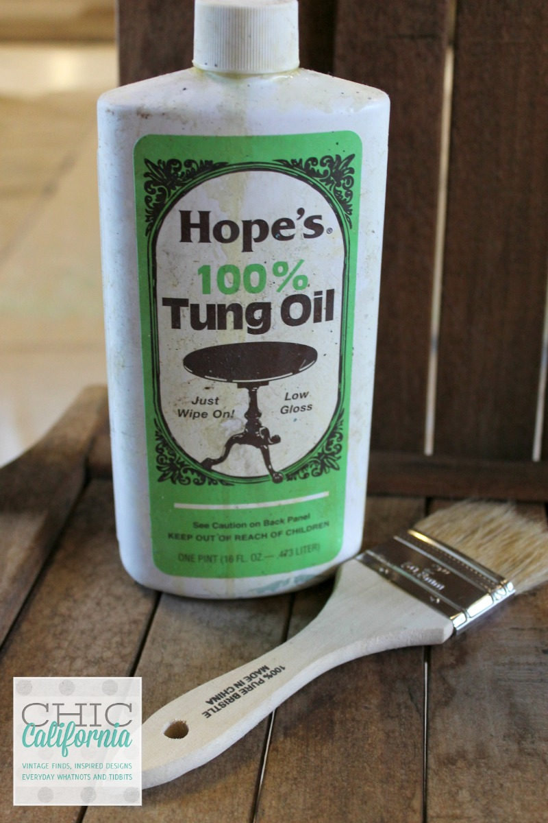 How to refresh wood using Hopes Tung oil