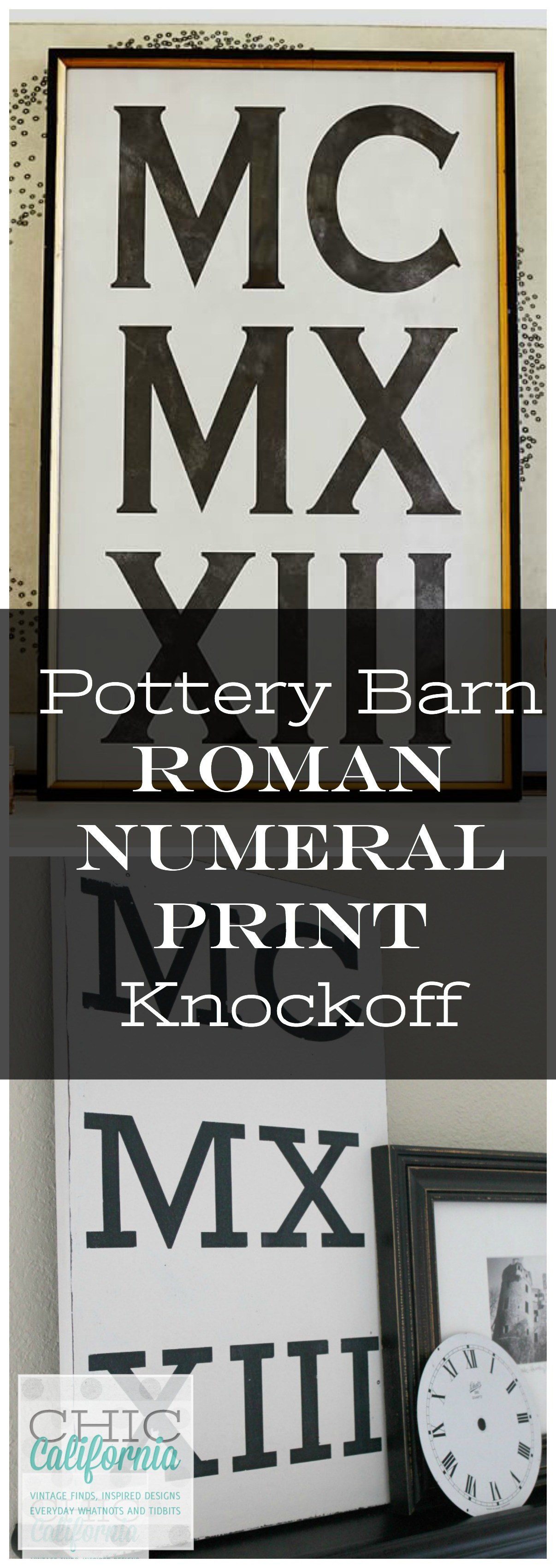 Pottery Barn Roman Numeral Print Knockoff