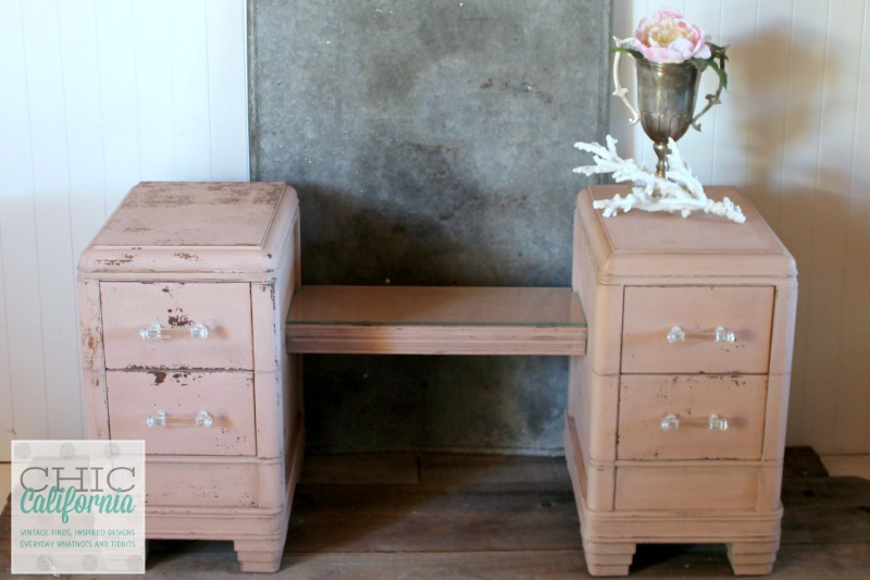 Pink Milk Paint Vanity by Chic California
