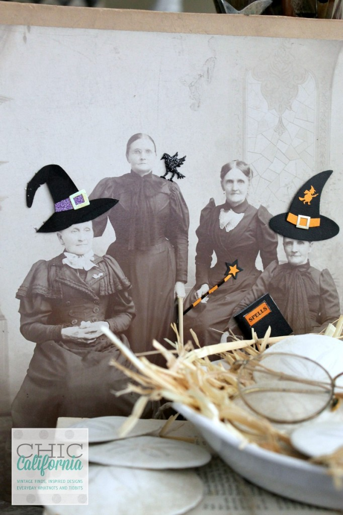 Halloween Decor by Chic California #vintage photos