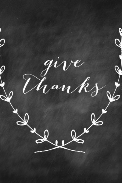 Thanksgiving Printable and Perfect Chalkboard Writing