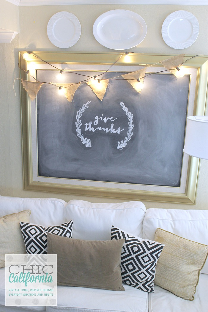 Gold Chalkboard tutorial