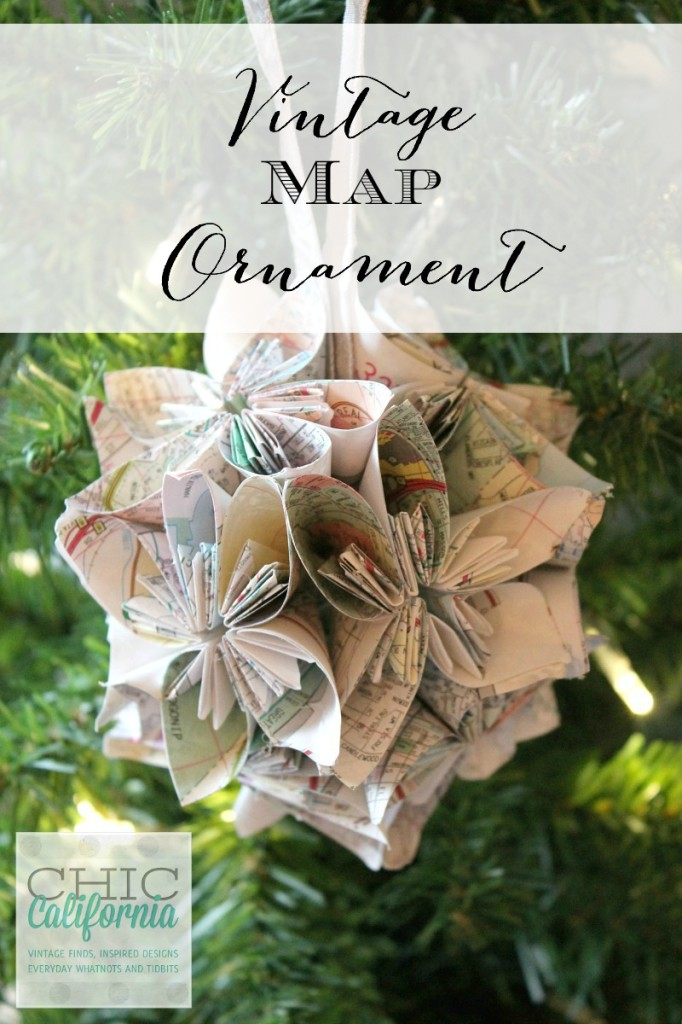 Vintage Map Ornament