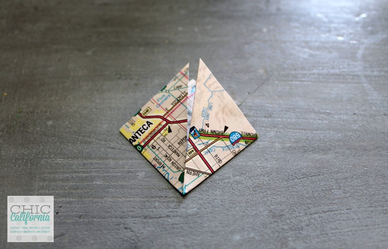 How to make an ornament out of a map