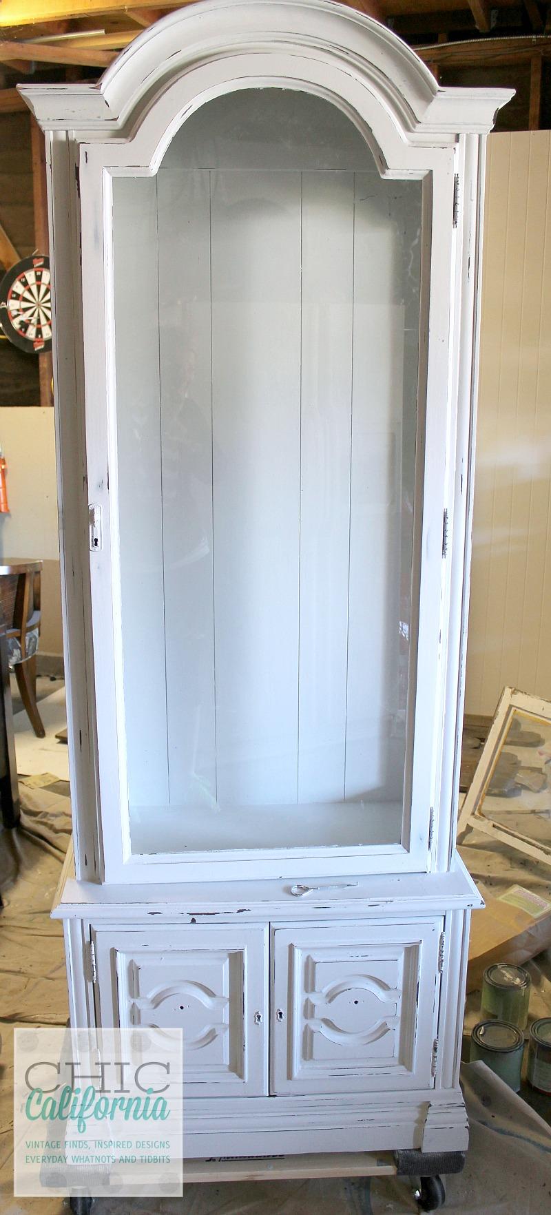 white china cabinet